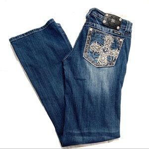 Miss Me Boot Jeans Crosses Sz 31 EUC C183